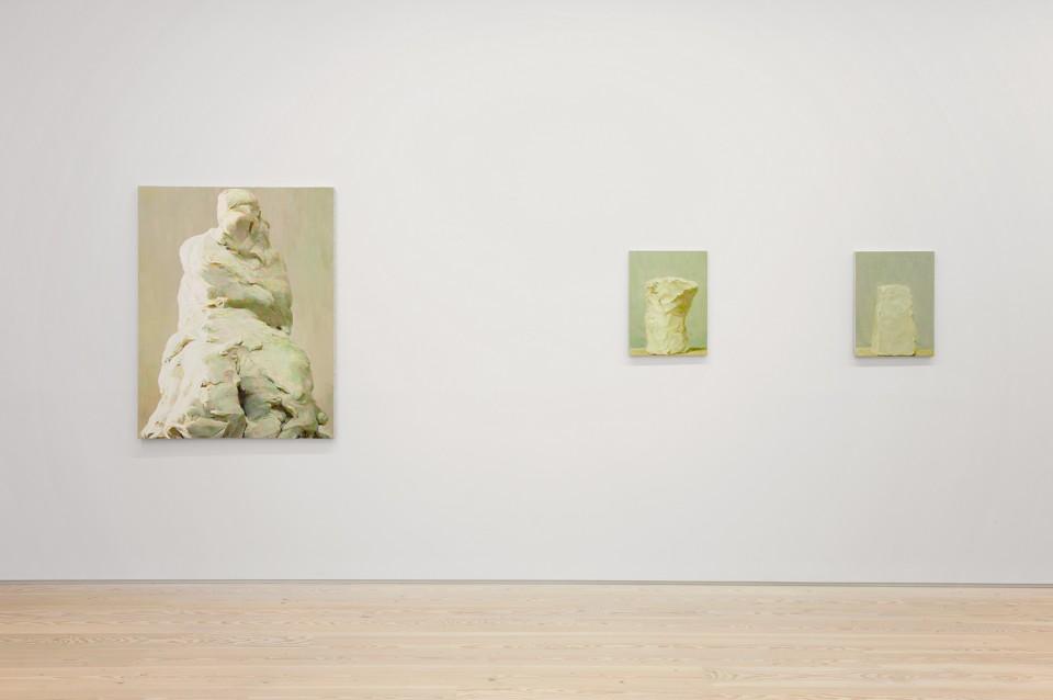 Installation shot: Statue No. 6, Column No. 3, Column No. 2